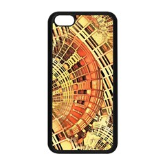 Semi Circles Abstract Geometric Modern Art orange Apple iPhone 5C Seamless Case (Black)