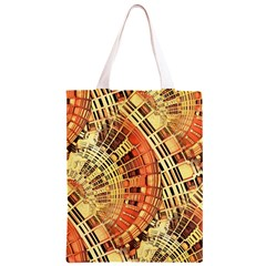 Semi Circles Abstract Geometric Modern Art orange Classic Light Tote Bag