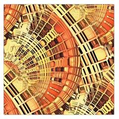 Semi Circles Abstract Geometric Modern Art orange Large Satin Scarf (Square)
