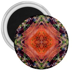 Boho Bohemian Hippie Floral Abstract Faded  3  Magnets