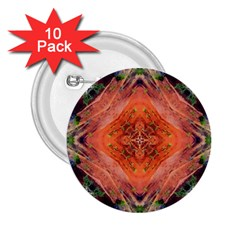 Boho Bohemian Hippie Floral Abstract Faded  2.25  Buttons (10 pack)