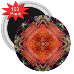 Boho Bohemian Hippie Floral Abstract Faded  3  Magnets (100 Pack)