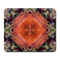 Boho Bohemian Hippie Floral Abstract Faded  Large Mousepads