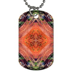 Boho Bohemian Hippie Floral Abstract Faded  Dog Tag (Two Sides)