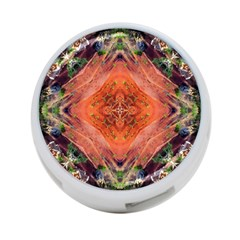 Boho Bohemian Hippie Floral Abstract Faded  4-Port USB Hub (Two Sides)