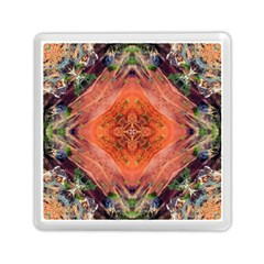 Boho Bohemian Hippie Floral Abstract Faded  Memory Card Reader (Square)