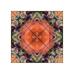 Boho Bohemian Hippie Floral Abstract Faded  Acrylic Tangram Puzzle (4  X 4 )