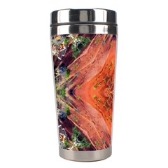 Boho Bohemian Hippie Floral Abstract Faded  Stainless Steel Travel Tumblers