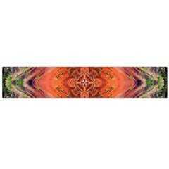 Boho Bohemian Hippie Floral Abstract Faded  Flano Scarf (Large)