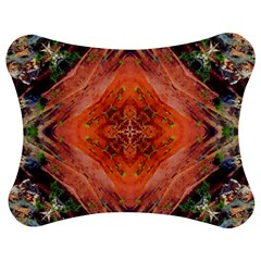 Boho Bohemian Hippie Floral Abstract Faded  Jigsaw Puzzle Photo Stand (Bow)