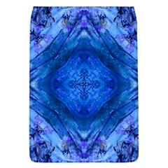 Boho Bohemian Hippie Tie Dye Cobalt Flap Covers (L)