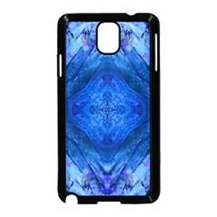Boho Bohemian Hippie Tie Dye Cobalt Samsung Galaxy Note 3 Neo Hardshell Case (Black)