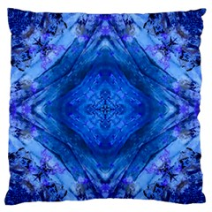 Boho Bohemian Hippie Tie Dye Cobalt Standard Flano Cushion Case (One Side)