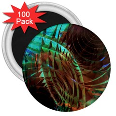 Metallic Abstract Copper Patina  3  Magnets (100 pack)