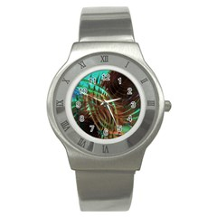 Metallic Abstract Copper Patina  Stainless Steel Watch