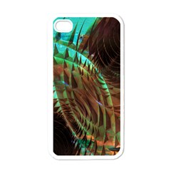Metallic Abstract Copper Patina  Apple iPhone 4 Case (White)