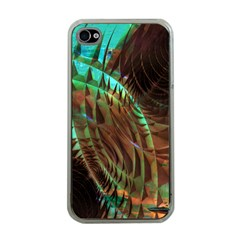 Metallic Abstract Copper Patina  Apple iPhone 4 Case (Clear)