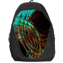 Metallic Abstract Copper Patina  Backpack Bag