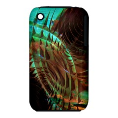 Metallic Abstract Copper Patina  Apple iPhone 3G/3GS Hardshell Case (PC+Silicone)