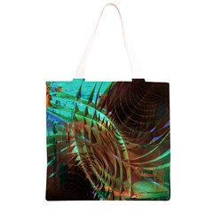 Metallic Abstract Copper Patina  Grocery Light Tote Bag