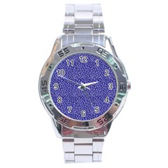 Abstract Texture Stainless Steel Analogue Watch
