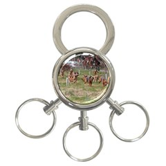 Bloodhounds Working 3-Ring Key Chains