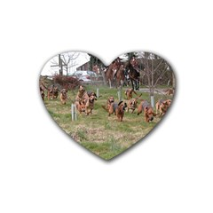Bloodhounds Working Rubber Coaster (Heart)