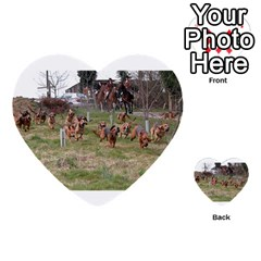 Bloodhounds Working Multi-purpose Cards (Heart)
