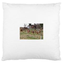 Bloodhounds Working Large Cushion Case (Two Sides)