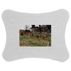 Bloodhounds Working Jigsaw Puzzle Photo Stand (bow)