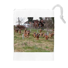 Bloodhounds Working Drawstring Pouches (Extra Large)