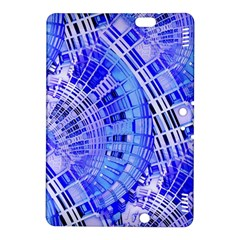 Semi Circles Abstract Geometric Modern Art Blue  Kindle Fire HDX 8.9  Hardshell Case