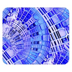 Semi Circles Abstract Geometric Modern Art Blue  Double Sided Flano Blanket (Small)