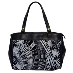 Semi Circles Abstract Geometric Modern Art Office Handbags