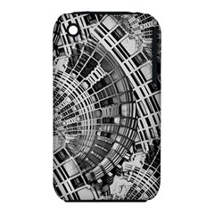 Semi Circles Abstract Geometric Modern Art Apple iPhone 3G/3GS Hardshell Case (PC+Silicone)