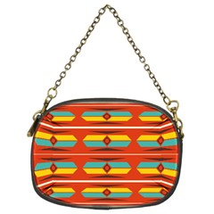 Shapes in retro colors pattern                        	Chain Purse (Two Sides)