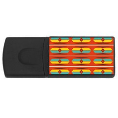 Shapes in retro colors pattern                        			USB Flash Drive Rectangular (4 GB)
