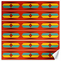 Shapes in retro colors pattern                        Canvas 20  x 20