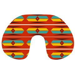 Shapes in retro colors pattern                        Travel Neck Pillow