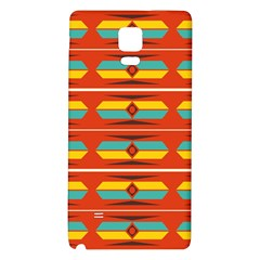 Shapes in retro colors pattern                        Samsung Note 4 Hardshell Back Case