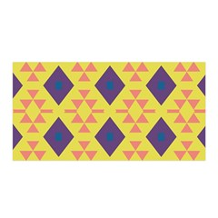 Tribal shapes and rhombus pattern                        Satin Wrap