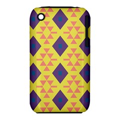 Tribal shapes and rhombus pattern                        Apple iPhone 3G/3GS Hardshell Case (PC+Silicone)