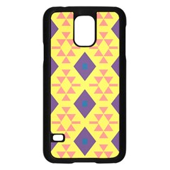 Tribal shapes and rhombus pattern                        Samsung Galaxy S5 Case (Black)