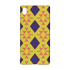 Tribal shapes and rhombus pattern                        			Sony Xperia Z3+ Hardshell Case