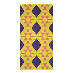Tribal Shapes And Rhombus Pattern                        	shower Curtain 36  X 72