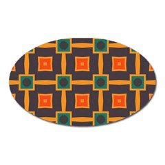 Connected Shapes In Retro Colors                         magnet (oval)
