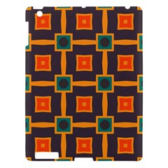 Connected shapes in retro colors                         			Apple iPad 3/4 Hardshell Case