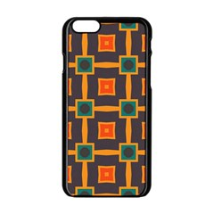 Connected shapes in retro colors                         Apple iPhone 6/6S Black Enamel Case