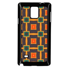 Connected shapes in retro colors                         Samsung Galaxy Note 4 Case (Black)
