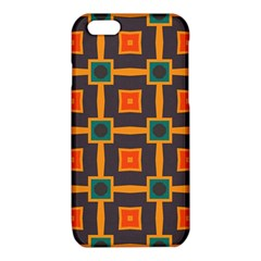 Connected shapes in retro colors                         			iPhone 6/6S TPU Case